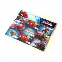 Etiqueta Spiderman packde 9 unidades