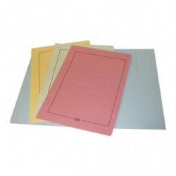 Carpeta 3 solapas de cartulina Oficio amarilla