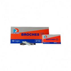 Broches Ezco Nº10/50, caja de 1000 unidades