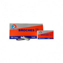 Broches Ezco Nº24/6, caja de 1000 unidades
