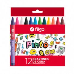 Crayones de cera Filgo Pinto de 12 colores