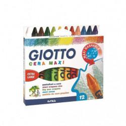 Crayones  Giotto Cera Maxi, de 12 colores