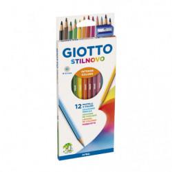 Lápices de colores Giotto Stilnovo largas hexagonales, de 12 colores