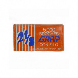 Broches Grap 21/8, caja de 5000 unidades
