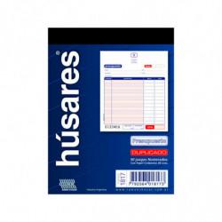 Talonario Presupuesto duplicado Húsares, 50 hojas