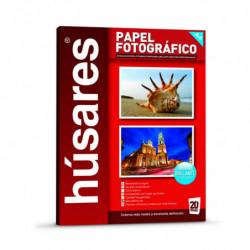 Papel Fotográfico Húsares A4, 230g. pack de 20 hojas