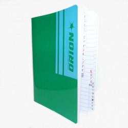 Cuaderno Índice Orión tapa flexible, 16 x 21cm. 30 hojas