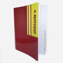 Cuaderno Índice Orión tapa flexible, 16 x 21cm. 50 hojas