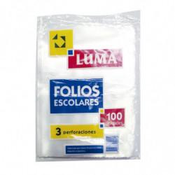 Folios escolares livianos Luma, pack de 100 unidades