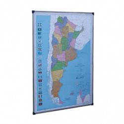 Mapa República Argentina magnético Fernandez Garrido, 90 x 130cm.