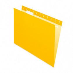 Carpeta Colgante Nepaco amarilla, caja de 25 unidades