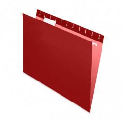 Carpeta Colgante Nepaco bordó, caja de 25 unidades