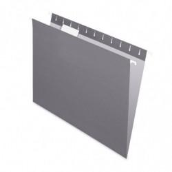 Carpeta Colgante Nepaco gris, caja de 25 unidades