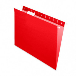 Carpeta Colgante Nepaco roja, caja de 25 unidades