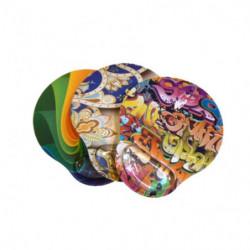 Pad mouse con apoyamuñecas Bang Art Samba Micropoint Cristal