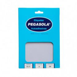 Etiquetas Pegasola 7.5 x 10.3cm. 60 etiquetas