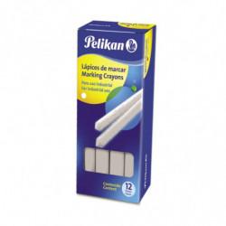 Lápiz de marcar Pelikan 762 blanco, caja de 12 unidades
