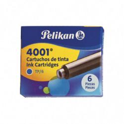 Cartucho Pelikan 4001 azul, 6 unidades
