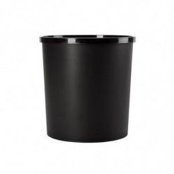 Cesto papelero plástico Pelikan, negro