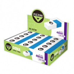 Goma de borrar lápiz/tinta Pizzini GTL30, caja de 30 unidades