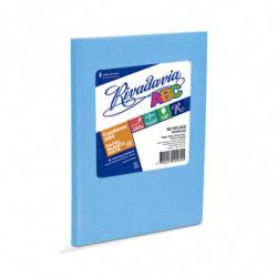 Cuaderno Araña Rivadavia ABC tapa dura celeste, 19 x 23cm. 48 hojas rayadas