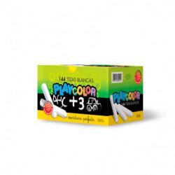 Tiza Playcolor blanca, caja de 144 unidades