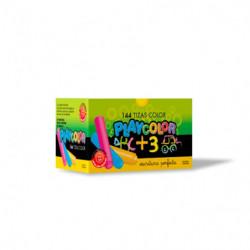 Tiza Playcolor color, caja de 144 unidades