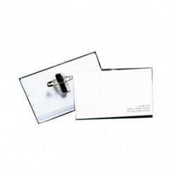 Porta credencial con broche de PVC