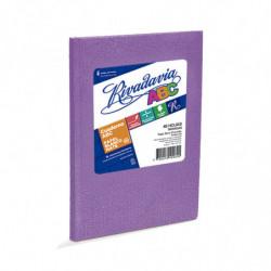 Cuaderno Araña Rivadavia ABC tapa dura lila, 19 x 23cm. 48 hojas rayadas