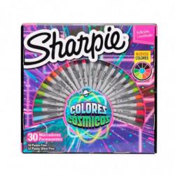 Marcadores permanentes Sharpie Colores Cósmicos Ruleta, 30 colores