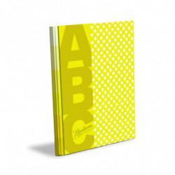 Cuaderno Lunares Rivadavia ABC tapa dura amarillo, 19 x 23cm. 48 hojas rayadas