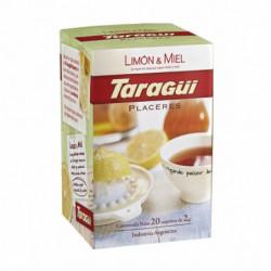 Té Limón/Miel Taragüí Placeres, caja de 25 saquitos