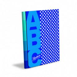 Cuaderno Lunares Rivadavia ABC tapa dura azul, 19 x 23cm. 48 hojas rayadas