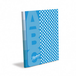 Cuaderno Lunares Rivadavia ABC tapa dura celeste, 19 x 23cm. 48 hojas rayadas