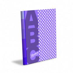 Cuaderno Lunares Rivadavia ABC tapa dura lila, 19 x 23cm. 48 hojas rayadas