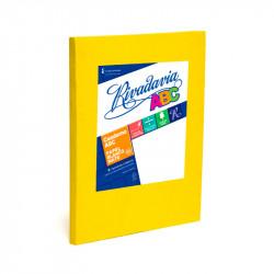 Cuaderno Araña Rivadavia ABC tapa dura amarillo, 19 x 23cm. 98 hojas lisas