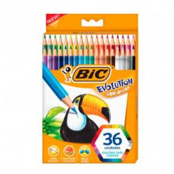 Lápices de colores Bic Evolution largos, de 36 colores