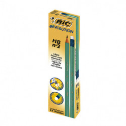 Lápiz HB con goma Bic Evolution, hexagonal, caja de 12unidades