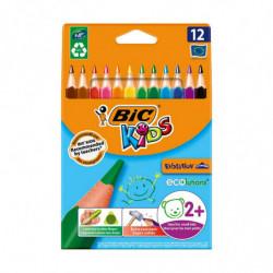 Lápices de colores Bic Kids cortos, de 12 colores