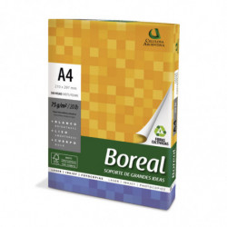 Resma Boreal A4, 75g.