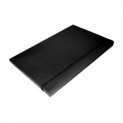 Caja archivo con elástico, de fibra Oficio negra, 20mm.