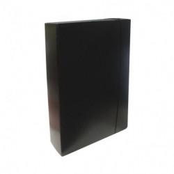 Caja archivo con elástico Util-Of, de fibra Oficio, 80mm.