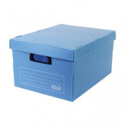 Caja archivo multiuso plástica azul, 420 x 320 x 250mm. pack de 10 unidades