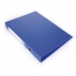 Carpeta 2 anillos forrada Avios A4 azul, lomo de 40mm.
