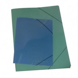 Carpeta 3 solapas con elástico plastificada Oficio color