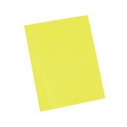 Carpeta presentación de cartulina A4 amarilla