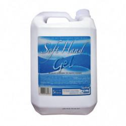 Alcohol en gel para manos Soft Hand Gel, bidón de 5lts.hojas