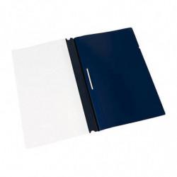 Carpeta Tapa transparente Clingsor Oficio azul, pack de 10 unidades