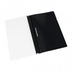 Carpeta Tapa transparente Clingsor Oficio negra, pack de 10 unidades