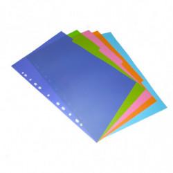 Separador 6 posiciones Clingsor A4, color, pack de 6 juegos
